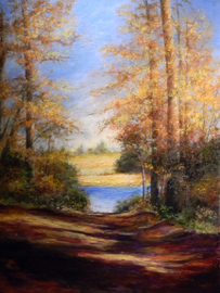 At the End of the Road - Pastel