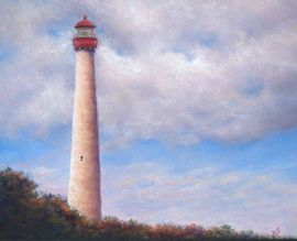 Cape May Point Light House - Pastel