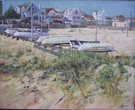 View from the Ventnor Boardwalk - 16x20, Acrylic on Canvas, NFS