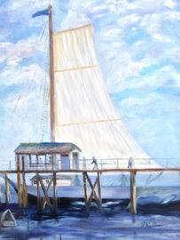 Hackney's Sailboat - Oil