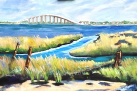 Ocean City Longport Bridge - Oil