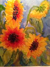 Sunflowers - Watercolor