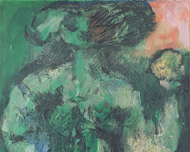 168 ~ Green Nude ~ 1963 26x36 ~ Oil on Canvas ~ $650.00