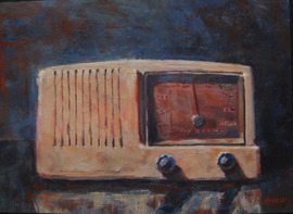 Radio Dream - 14.5x10.5, Acrylic on Canvas, $300