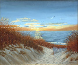 Sunset On the Bay - Oil